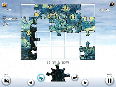 Solved! is traditional jigsaw puzzle game.